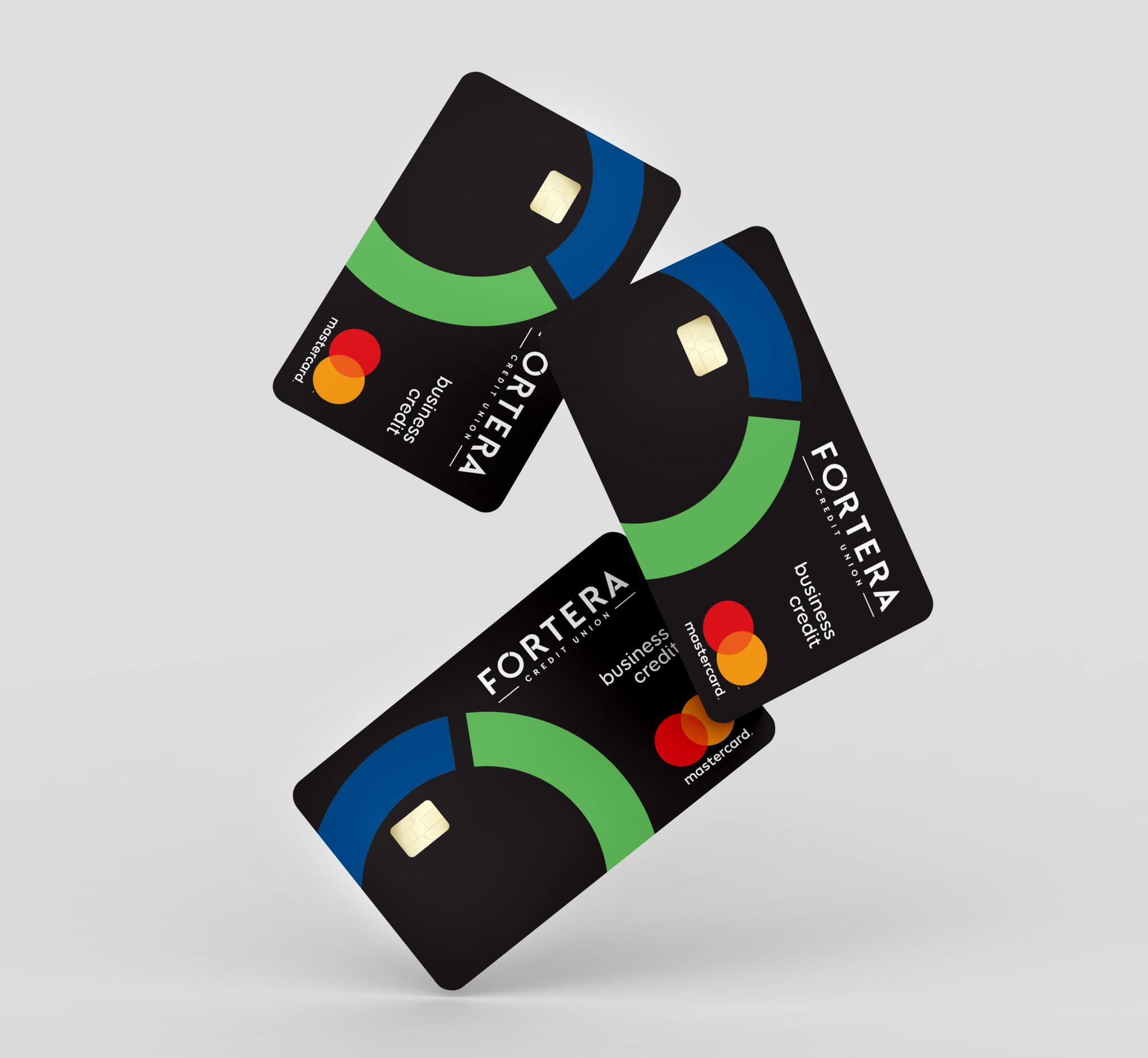 Multiple floating business credit cards