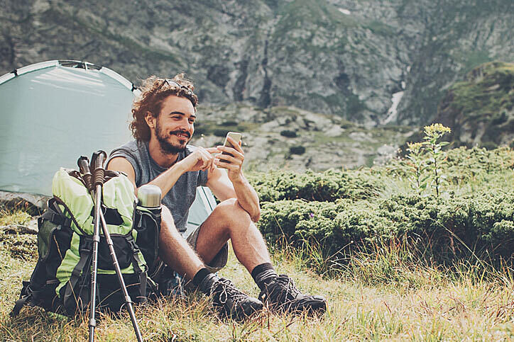 Camping hiking