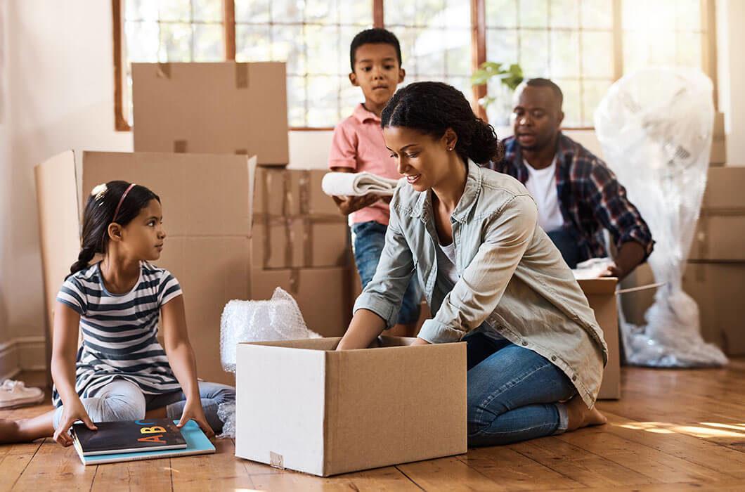 Split content family new home
